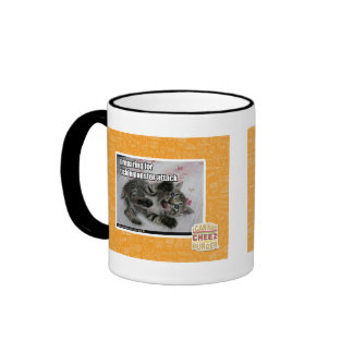 Preparing For Ticklemonster Attack Ringer Coffee Mug