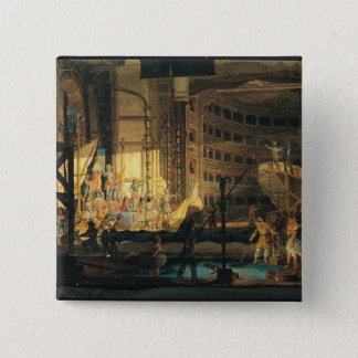 Preparing Scenery in a Theatre Pinback Button