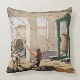 Preparing the Cable, from 'The Atlantic Telegraph' Pillow