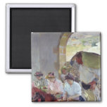 Preparing the Dry Grapes, 1890 2 Inch Square Magnet