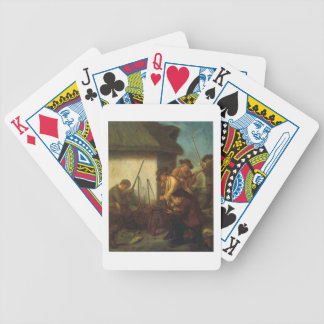 Preparing the Guns (oil on canvas) Bicycle Playing Cards
