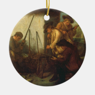 Preparing the Guns (oil on canvas) Ceramic Ornament