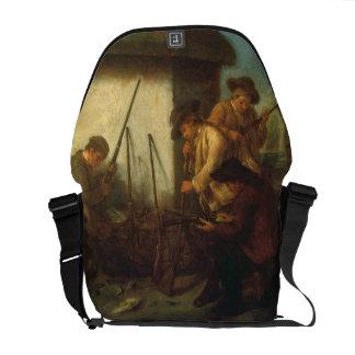 Preparing the Guns (oil on canvas) Courier Bag