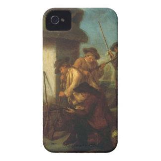 Preparing the Guns (oil on canvas) iPhone 4 Case-Mate Case