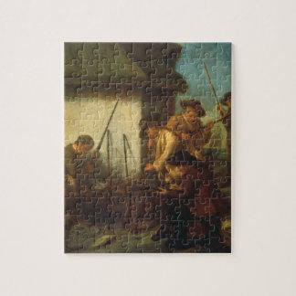 Preparing the Guns (oil on canvas) Jigsaw Puzzle
