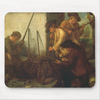 Preparing the Guns (oil on canvas) Mouse Pad