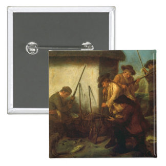 Preparing the Guns (oil on canvas) Pinback Button