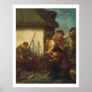 Preparing the Guns (oil on canvas) Poster