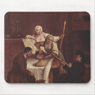Preparing the Polenta by Pietro Longhi Mouse Pads
