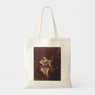 Preparing the Polenta  by Pietro Longhi Tote Bags