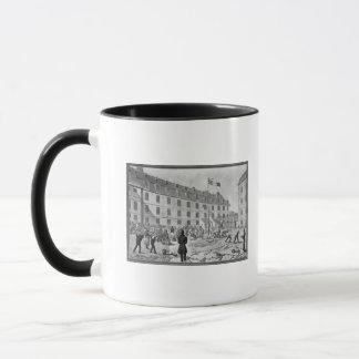 Preparing the shackling of the convicts mug