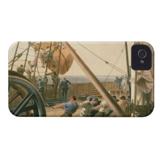 Preparing to launch one of the large buoys, August iPhone 4 Case-Mate Case
