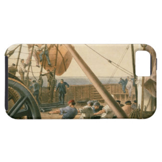 Preparing to launch one of the large buoys, August iPhone SE/5/5s Case