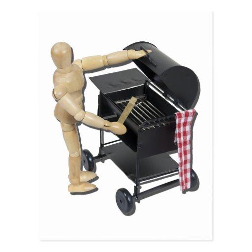 PreparingBarbecueGrill082611 Tarjeta Postal
