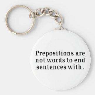 Prepositions Keychain