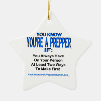 PREPPER 00002 CERAMIC ORNAMENT