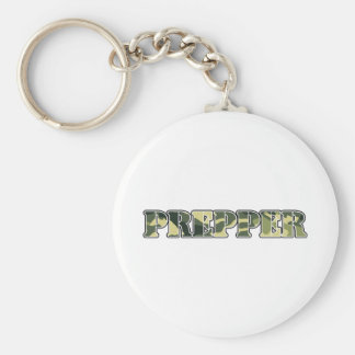 Prepper Basic Round Button Keychain