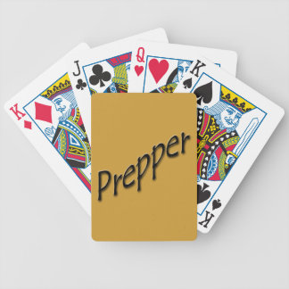 Prepper black bicycle playing cards