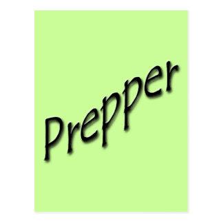 Prepper black post card