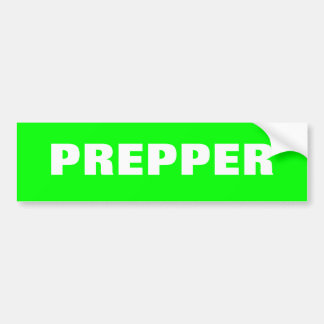 Prepper Bumper Stciker SHTF Bug Out Prepping Bumper Sticker