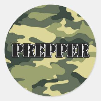 Prepper Camo Classic Round Sticker