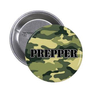 Prepper Camo Pinback Button