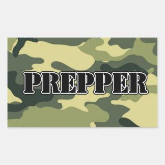 Prepper Camo Rectangular Sticker