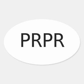 PREPPER Decal Oval Sticker