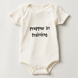 Prepper in training baby bodysuit