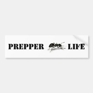 Prepper Life Bumper Sticker