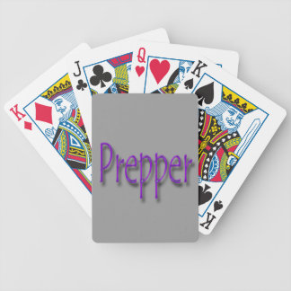 Prepper purple bicycle playing cards
