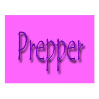 Prepper purple post cards
