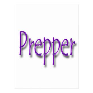 Prepper purple postcards