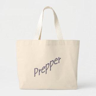 Prepper purple slant canvas bag