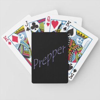 Prepper purple slant bicycle playing cards