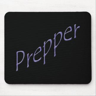 Prepper purple slant mouse pad