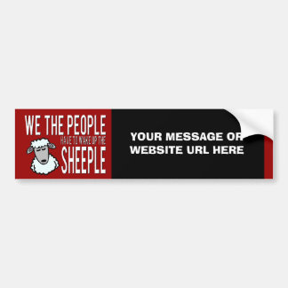 Prepper Website or Products Sheeple Bumper Sticker