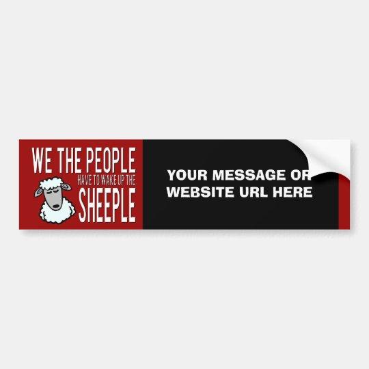 Prepper Website or Products Sheeple Bumper Sticker