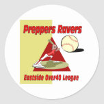 Preppers Ravers Round Sticker