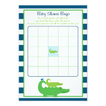 Preppy Alligator Baby Shower Bingo Cards