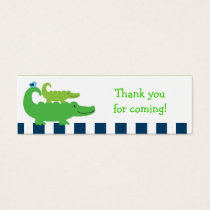 Preppy Alligator Goodie Bag Tags Gift Tags