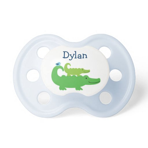 Preppy Alligator Personalized Pacifier