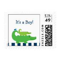 Preppy Alligator Personalized Postage Stamps