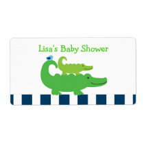 Preppy Alligator Water Bottle Stickers Labels