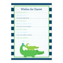 Preppy Alligator Wishes for Baby Card