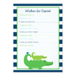 Preppy Alligator Wishes for Baby Card Invitations