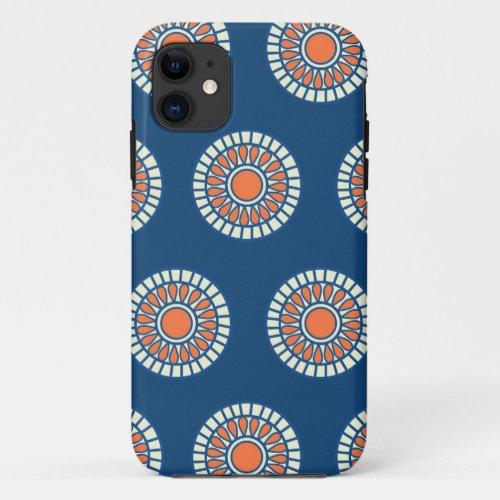 Preppy arabesque polka dot dots tribal pattern Phone Case