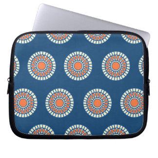 Preppy arabesque polka dot dots tribal pattern computer sleeve