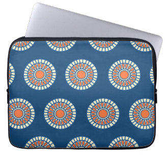 Preppy arabesque polka dot dots tribal pattern laptop sleeve