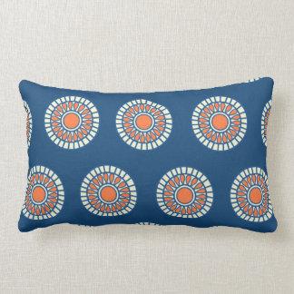 Preppy arabesque polka dot dots tribal pattern pillow
